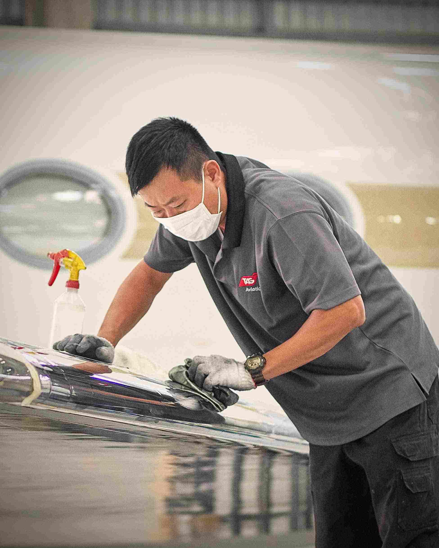 飛機維修及清潔團隊