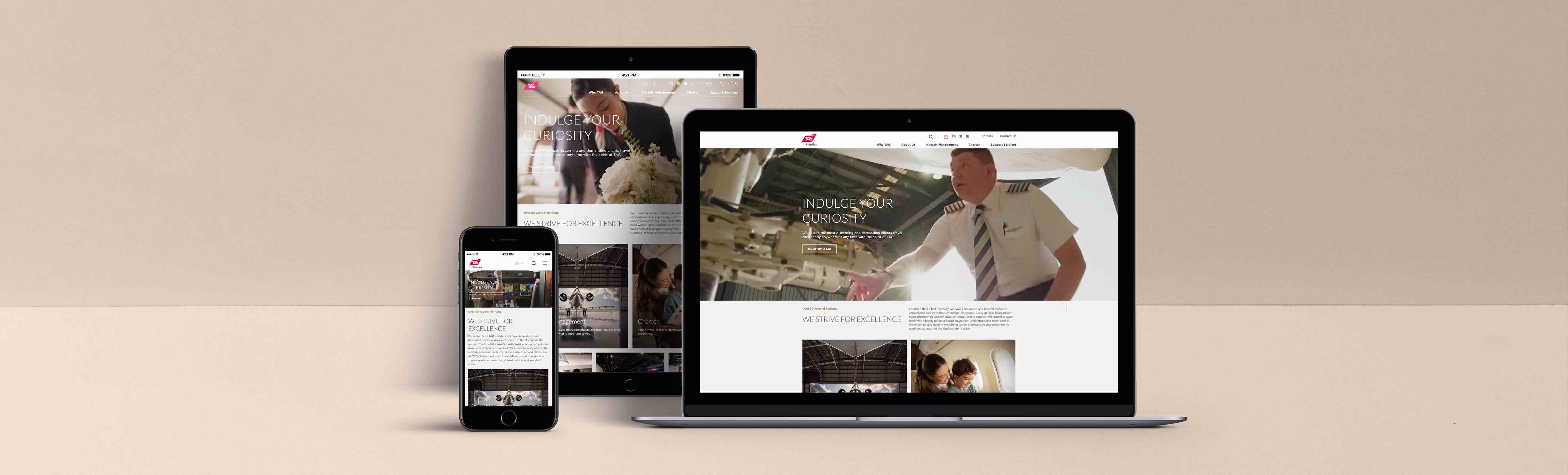 TAG航空展現全新公司網站、更新品牌新形象