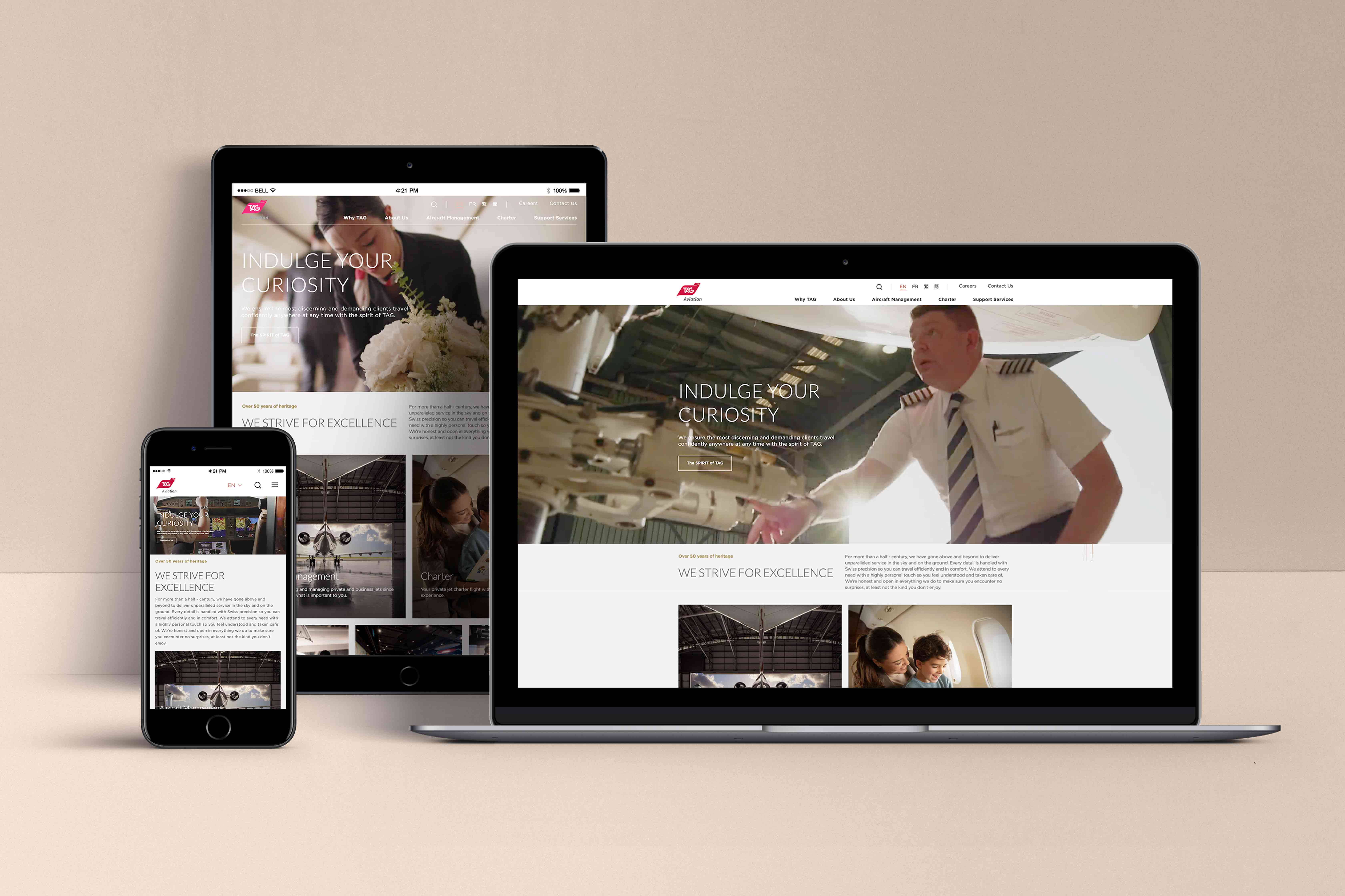 TAG Aviation unveils New Corporate Website and Branding System