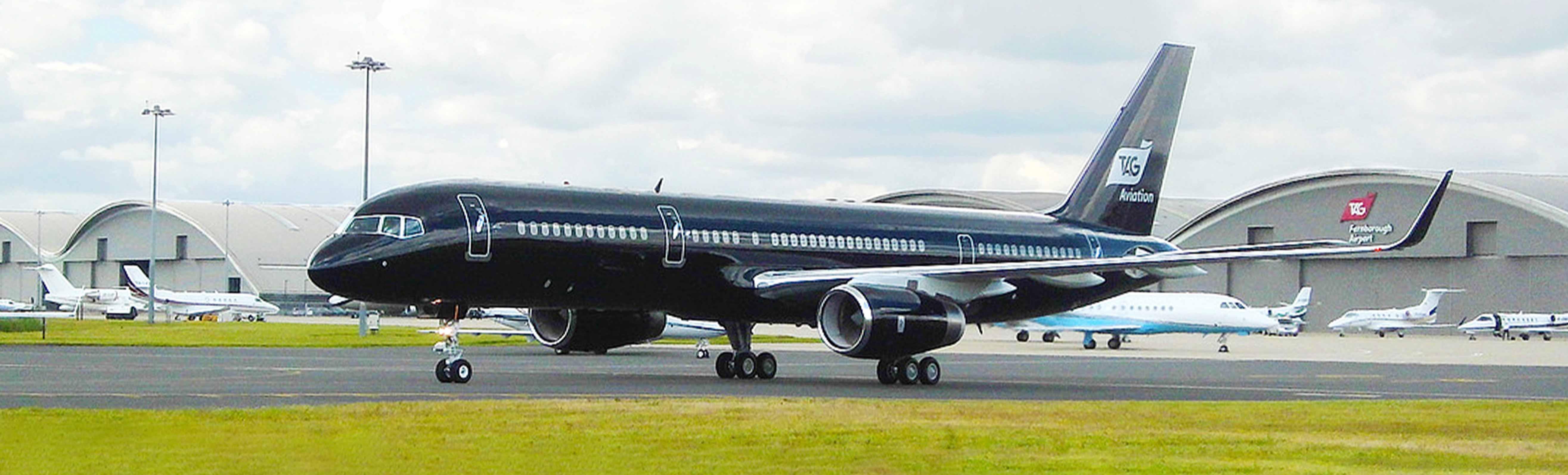 TAG航空的豪华B757飞机参与2016年度范保罗国际航展